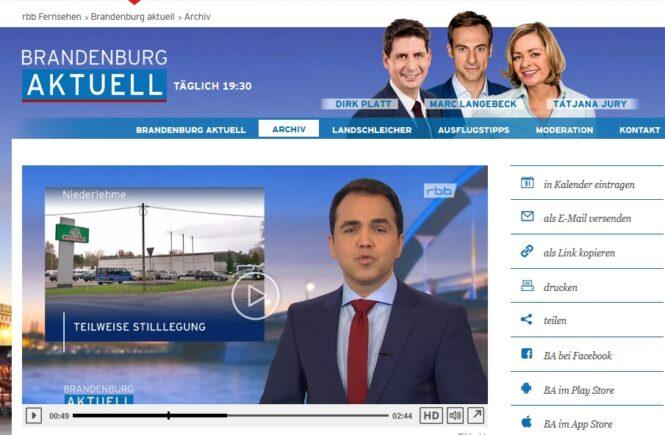 """rbb Bericht zu """"Geflügelhof in Niederlehme muss schließen"""" vom 25.1.18"""