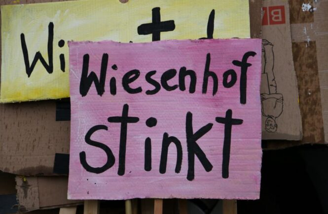Plakat Wiesenhof stinkt