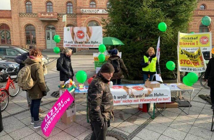 BI-Demo gegen Wiesenhof in KW