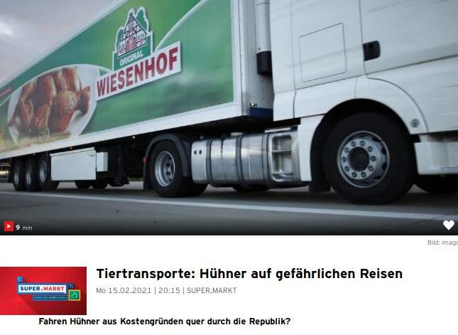 rbb Supermarkt - Tiertransporte